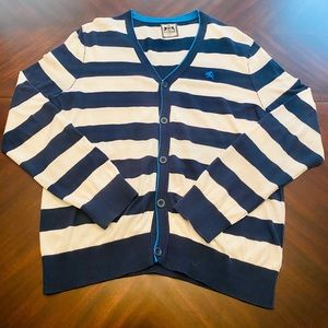 Men V-Neck Button Down Sweater